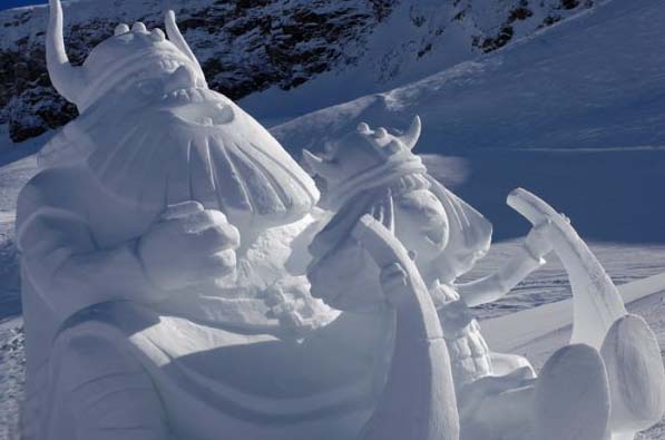 17th annual Shapes in White contest in Ischgl