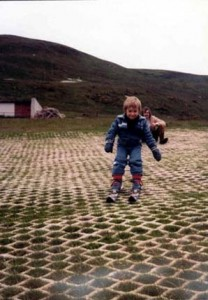 Finlay Mickel's first time on Hillend 1979. 2years old.