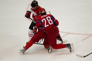 Canada v Russia Ice Hockey Quarter Final