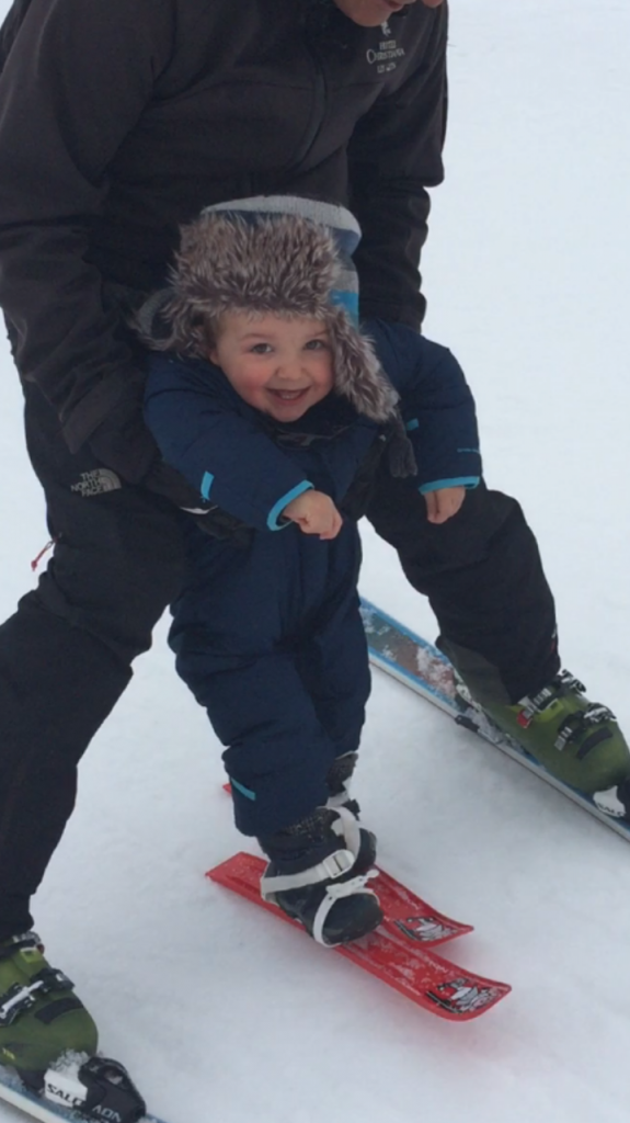 Harry's First Day on Ski's