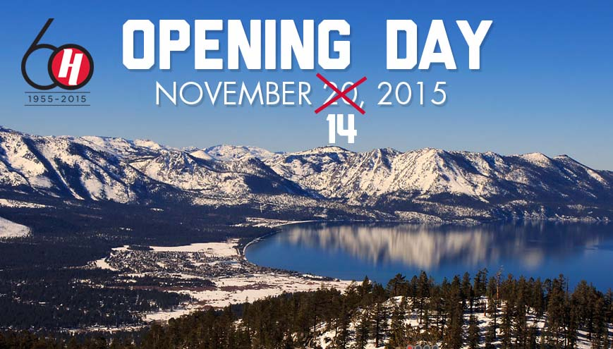 Like so many other resorts, Heavenly is opening ahead of schedule this year