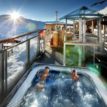 Slopeside hot tub