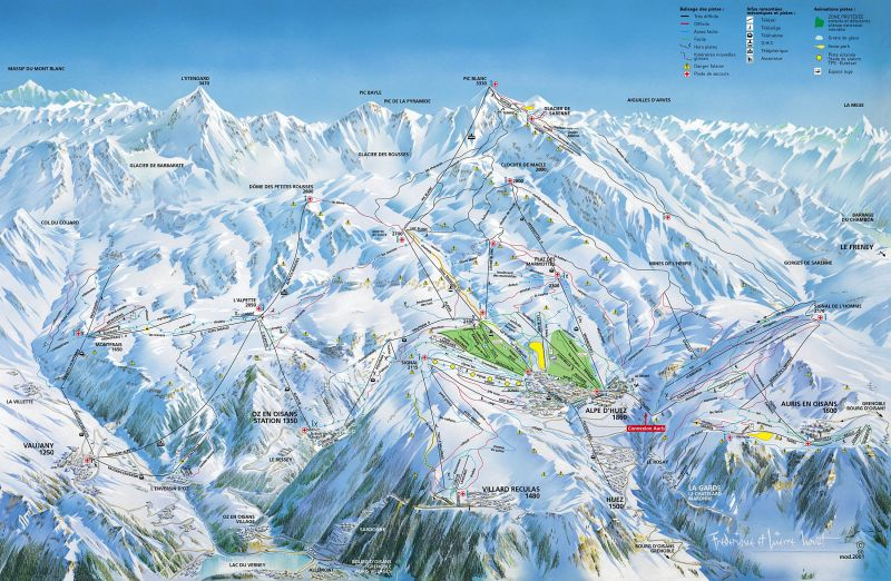 Alpe d\'Huez Ski Accommodation on Map | France | Ski Independence