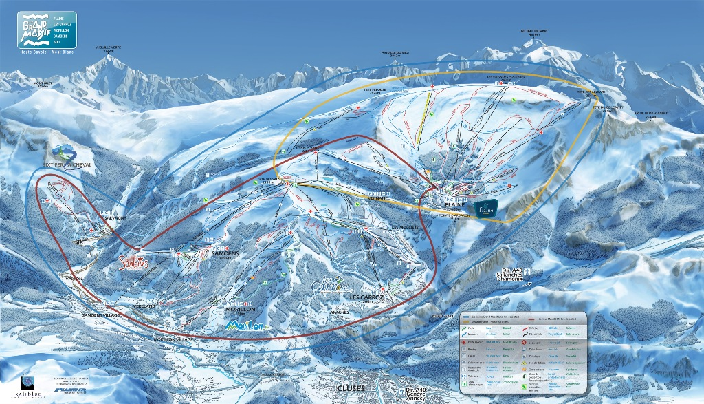 Flaine Ski Accommodation Map | Flaine | Ski Independence